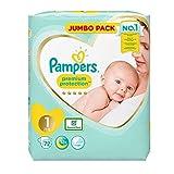 Pampers Größe 1New Baby Jumbo-Box Windeln–72Stück Windeln