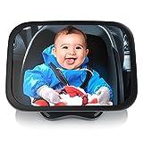 CSL - Rücksitzspiegel für Babys 23x16cm - Auto-Rückspiegel für die Babyschale - Sicherheitsspiegel - Verstellbare Träger universale Form - splittersicher - Hoch- oder Querformat - Auto-Spiegel Baby