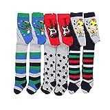 TupTam Baby Jungen Strickstrumpfhose 6er Pack, Farbe: Farbenmix 11, Größe: 56-62