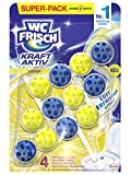 WC-Frisch Kraft Aktiv Duftspüler Lemon, WC-Reiniger, 3 Stück, mit Lufterfrischer Effekt für einen...
