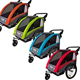 Veelar Sports 2 in 1 Kinderanhänger Fahrradanhänger Anhänger mit Buggy Set + Federung 60302-02...