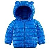 Kids4ever Jacke Mäntel Baby 6-12 Monat Junge Mädchen Kapuze Jäckchen Personalisiert Blau Muster Winter Winddicht Steppjacken Schneeanzüge Outfits