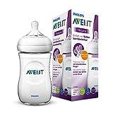 Philips Avent Natural Flasche SCF033/17, 260 ml, naturnahes Trinkverhalten, Anti-Kolik-System, transparent, 1er Pack