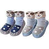Hoylson Unisex-Baby Socken Hüttenschuh Babyschuhe Krabbelschuhe Kleinkind Lauflernschuhe Mit Anti-Rutschsohle für Jungen und Mädchen 0-24 Monate (XS: 0-10 Monate, Style-8)