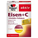 Doppelherz Eisen + C + Histidin + Folsäure – Eisen unterstützt die normale Bildung der roten...