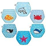 Skhls Baby Trainingshosen Töpfchen Unterwäsche Toilettentraining Höschen für Kinder 6er Pack 2 Jahre