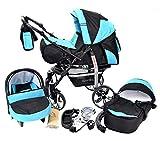 You and Baby SPORTIV-X2 Kombi-Kinderwagen 3in1 | mit Zubehör | für Kinder ab der Geburt bis 3 Jahre | Gewicht 13 kg | Faltmaß mit Rädern B99 x T60 x H63