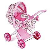Hauck Toys for Kids Puppenwagen Diana - Puppenkinderwagen mit Tragetasche, leicht zusammenklappbar - Hello Kitty Edition - Rosa