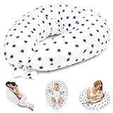 Stillkissen Schwangerschaftskissen zum Schlafen Seitenschläferkissen - Lagerungskissen für Baby...