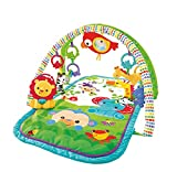 Fisher-Price GXC36 - Rainforest-Freunde 3-in-1 Spieldecke, tragbare Baby Krabbeldecke inkl. abnehmbaren Spielzeugen, ab Geburt, Abweichungen in Verpackung vorbehalten