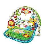 Fisher-PriceGXC36 - Rainforest-Freunde 3-in-1 Spieldecke, tragbare Baby Krabbeldecke inkl. abnehmbaren Spielzeugen, ab Geburt, Abweichungen in Verpackung vorbehalten