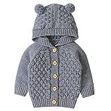 Tianhaik Baby Stricken Strickjacken Mäntel Säugling Jungen Mädchen Ohr Hoodie Outwear Herbst Winter Warme Kleidung Jacke