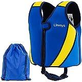 Limmys Premium Neopren Schwimmweste, ideale Schwimmhilfe für Jungen und Mädchen, Extra Kordelzugtasche inklusive, (Mittel)