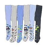 TupTam Baby Jungen Strickstrumpfhose 6er Pack, Farbe: Farbenmix 2, Größe: 62-74