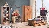Froschkönig24 Cilek Pirate Kinderzimmer 6 - TLG. Set Komplettset Kinder Spielzimmer Piraten Braun