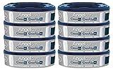 Angelcare 8er-Pack Original Nachfüllkassetten für Angelcare WIndeleimer Dress-Up/Dress-Up XL/Classic XL