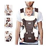SIMBR Babytrage Ergonomisch mit Sitz für Die Hüfte, 12 Positionen, Multifunktional, 100%...