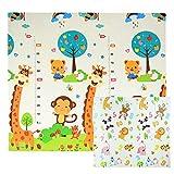 CCLIFE Krabbelmatte Spielmatte Baby Schadstofffrei 196x176x1cm Faltbar Spielunterlage Spielteppich...
