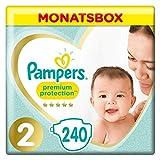 Pampers Premium Protection Windeln, Gr.2, 4-8kg, Monatsbox, 1er Pack (1 x 240 Stück)