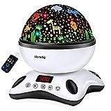 Moredig Sternenhimmel Projektor Kinder, Nachtlicht Baby mit Musik 360° Rotation + 12 Beruhigende...