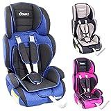 KIDIMAX® Autokindersitz Kindersitz Kinderautositz, Sitzschale, universal, zugelassen nach ECE R44/04, in 3, 9 kg - 36 kg 1-12 Jahre, Gruppe 1/2 / 3 (Blau)