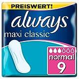 Always Maxi Classic Binden, ohne Flügel, 4er Pack (4 X 9Stück)