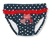Playshoes Baby-Mädchen UV-Schutz Windelhose Herzen Schwimmwindel, Blau (Marine 11), (Herstellergröße: 62/68)