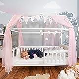 Alcube praktisches, Variables Hausbett 160x80 mit Rausfallschutz und Lattenrost in weiß Kinderbett...