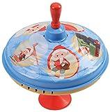 Bolz 52333 52333-Brummkreisel ca. 19 cm, Blech Schwungkreisel, klassischer Pumpkreisel, Blechkreisel mit Unser Sandmännchen, Kreisel mit Standfuss, Spielzeugkreisel für Kinder ab 18m+, Sandmann Motive