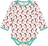 loud + proud Unisex Baby Body Lang Aus Bio Baumwolle, GOTS Zertifiziert Spieler, Rosa (Berry Ber),...