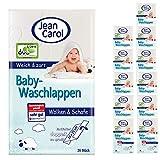 Jean Carol Baby-Waschlappen, weich & zart, Vorteilspackung (12 x 26 Stück) für die tägliche Pflege