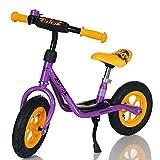 LCP Kids Laufrad Roller für Kinder ab 2 Jahren Luftreifen Ständer, Violett