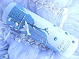 Taufkerze Kommunionkerze Junge Mädchen 250/70 mm VT-01 inkl. Zubehör für selbstbeschriften