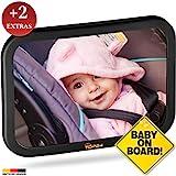 TDP24 Rücksitzspiegel Baby - Spiegel Auto Baby - bewährte Sicherheit durch großes Sichtfeld -...
