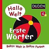 Duden 6+: Hallo Welt: Erste Wörter: Babys Welt in Babys Farben (DUDEN Pappbilderbücher 6+ Monate,...