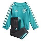 adidas Baby DFB 3 Stripes Babyjogger Trainingsanzug, EQT Green s16/Black/White, 62
