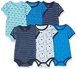 Amazon Exclusive: Care Baby - Jungen Kurzarm-Body im 3er und 6er Pack Blau (Dress Blues 772),...