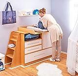 BioKinder 22187 Laura Leiter für Wickeltisch aus Massivholz Erle 89x40x31 cm