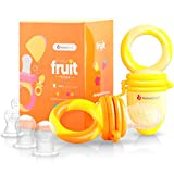 NatureBond Fruchtsauger Baby/Schnuller in appetitanregenden Farben (2 Stück) - Fruchtsauger Baby ab...