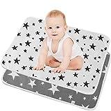 SunTop 2 Stück Waschbare Wickelunterlage für Babys und Kleinkinder - Atmungsaktiv, Waschbar,...