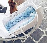 Bettumrandung 150 cm, HEQUN Baby Nestchen Bettumrandung Weben Kantenschut Kopfschutz Stoßfänger...
