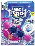 WC FRISCH Kraft Aktiv Blauspüler Blütenfrische, WC-Reiniger und Farbspüler mit 50 Prozent mehr...