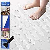 Eruibos Anti Rutsch Streifen, 24× (2 cm* 38cm) Anti Rutsch Sticker für Duscheinlage, Treppenstufen...