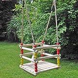 Hermic Babyschaukel, Gitterschaukel Aus Holz Verstellbare Seile