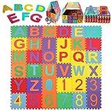 Schutzmatte, StillCool Puzzlematte Kinder Lernteppich mit Buchstaben und Zahlen, Spielmatte...