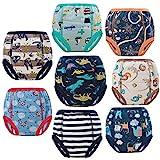 FLYISH DIRECT Töpfchen Trainingshose Baby Lernwindel Trainerhosen Unterwäsche für Baby Kleinkind Kleinkinder, 8 Stück, 90/2T, 2 Jahre
