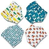 Flyish Baby Trainingshose Kinder Windelhose Kleinkind Training Unterwäsche Baumwolle wiederverwendbar und waschbar bequem 4er Pack, Boy, 100