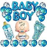 Sunshine smile Boy Ballon,Boy Or Girl Ballon,Geschlecht Offenbaren Ballon,Geschlecht Offenbaren Party,Luftballons Mädchen Oder Jungen,Baby Shower Party Dekorationen (Junge)