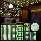 Leuchtsterne, Lavvio 6pcs Leuchtsterne Selbstklebend, Leuchtsterne Kinderzimmer, 741 Leuchtsterne/Leuchtpunkte Sternenhimmel Aufkleber, Leuchtsterne Wandtattoo & Wanddeko Aufkleber für Baby