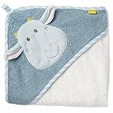 Fehn 065190 Kapuzenbadetuch Drache / Bade-Poncho aus Baumwolle mit Drachen Motiv für Babys und...